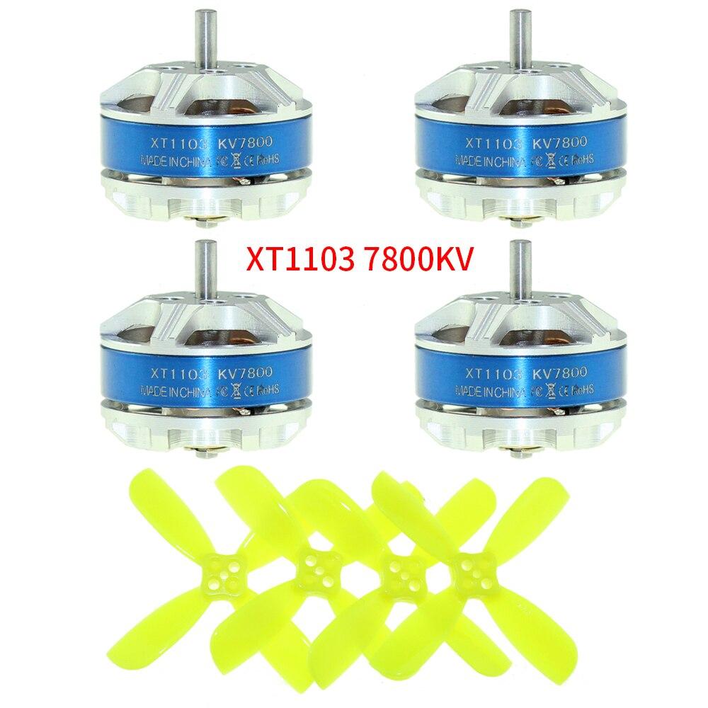 4 piezas Sunnysky XT1103 7800kv Mini Motor sin escobillas cuchillas para RC Mini Multirotor Drone (No CW y CCW)