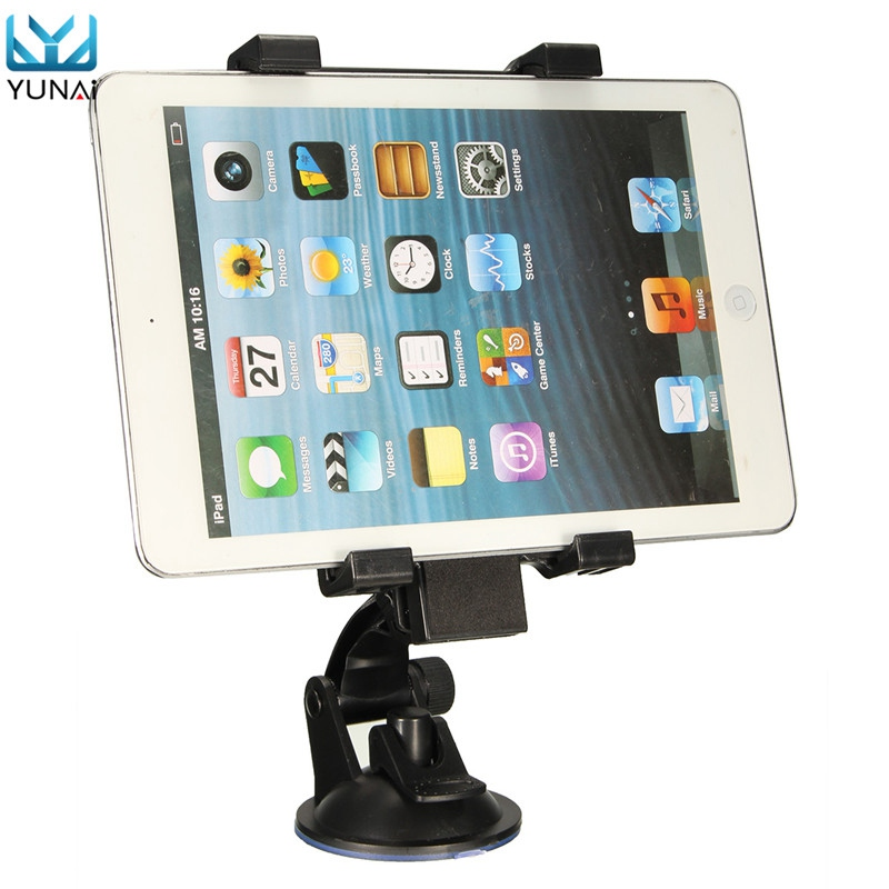 YUNAI Universal Car Windshield Suction Adjustable Tablet Mobile Phone Mount Holder Stand For IpadIphoneSamsung 6.5-14cm Width