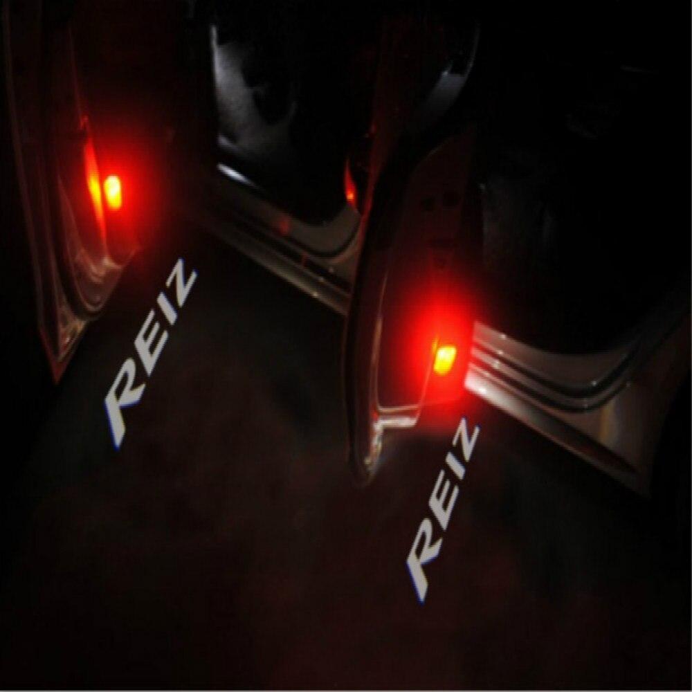 JURUS 2x LED Car Door Welcome Light Ghost Shadow Light Logo Projector For Toyota Reiz light