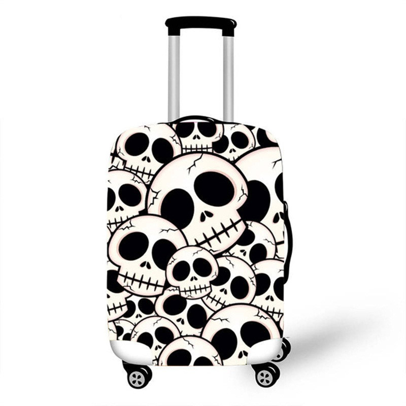 18-32 Inch 3D Vintage Punk Skull Luggage Cover Men Women Travel Suitcase Protective Covers For Trolley Case Dust Rain Cover