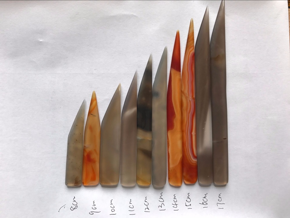 Agate Knife Jewelry Polishing Agate Burnisher Wit Hout Handle-knife Shape A Variety Of Specifications To Choose