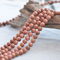 Wholesale Natural Stone Gold SandStone Golden Sand Round Loose Beads 15 Strand 3 4 6 8