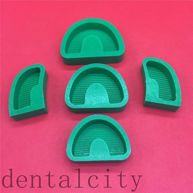 5 unids/set herramientas de laboratorio Dental moldes de Base de goma de silicona yeso tallado modelo antiguo moldes de Base con/sin Tonguel