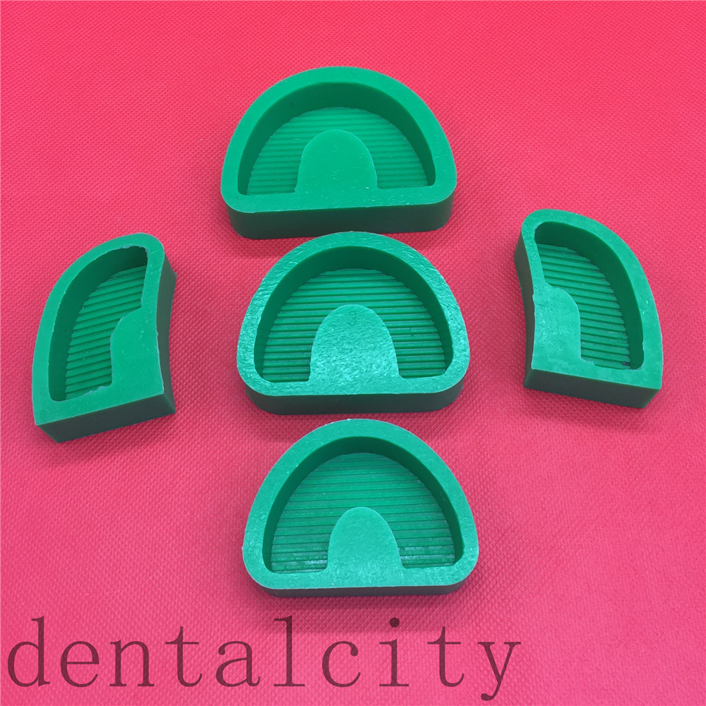 5Pcs/set Dental Lab Tools Silicone Rubber Base Moulds Plaster Gypsum Carving Model Former Base Molds With/Without Tonguel
