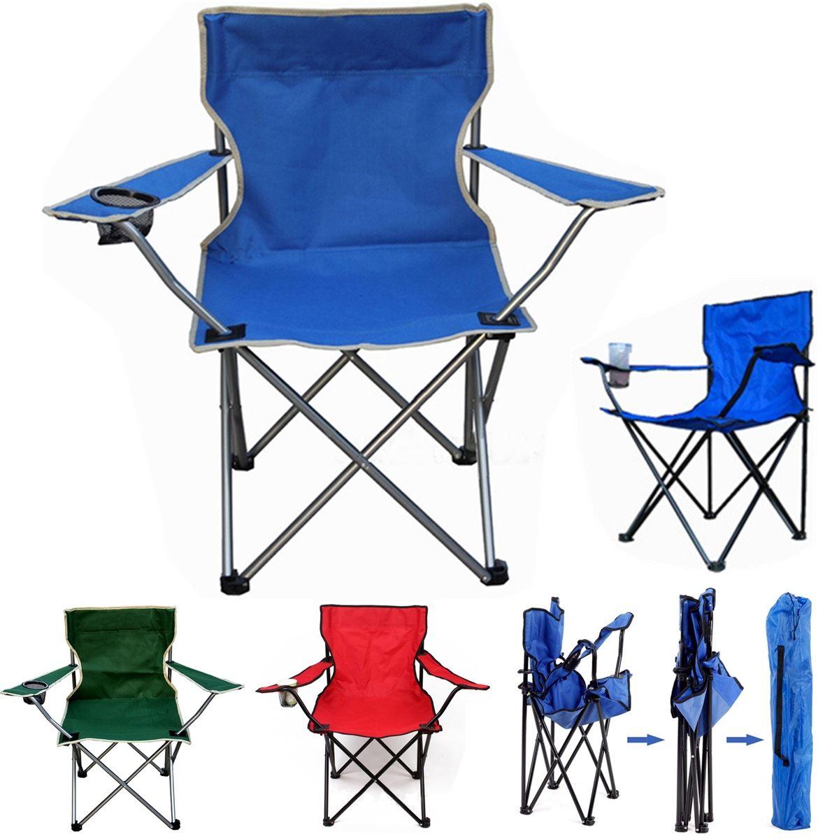 Ao ar livre portátil dobrável cadeira de pesca acampamento praia piquenique cadeira assento com suporte de copo oxford pano leve assento cadeira