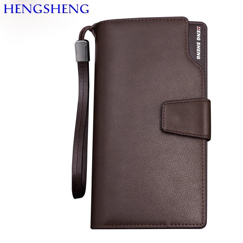Mode Cuir Hommes Longue Black Par Populaire Pu Hengsheng Qualité coffee Longues Portefeuille Main Portefeuilles En De Haute z4vW55q8RH