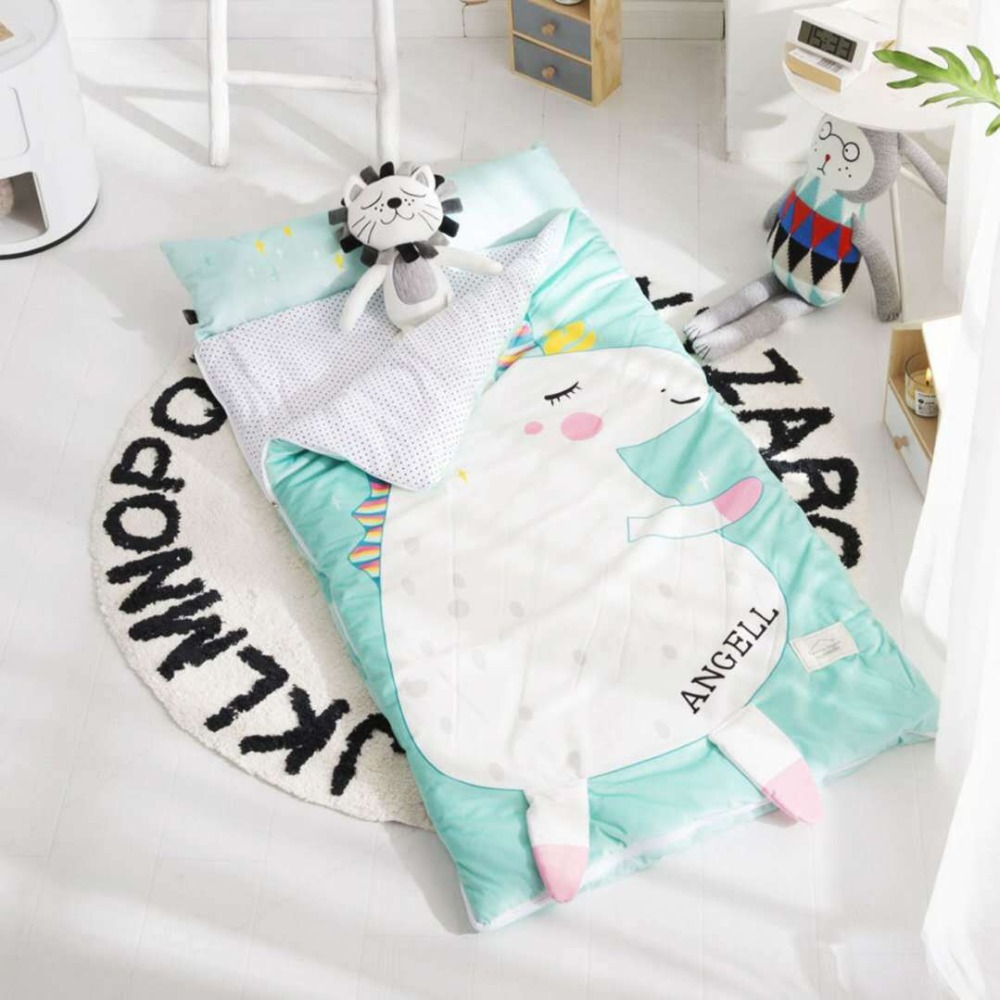 150cm*70cm Winter Kids Sleeping Bag Thicken Quit  With Pillow Warm Envelope For Bedroom Multifunctional  Children Sleeping Bag