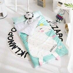 150cm*70cm Winter Kids Sleeping Bag Thicken Quit  with Pillow Warm Envelope for Bedroom Multifunctional  Children Sleeping Bag
