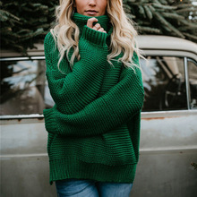 turtleneck women sweaters and pullovers plus size sweater top woman clothing girls computer knitted casual