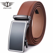 Plyesxale Metal Automatic Buckle Belt Cow Leather Belts For Men High Quality Jeans Mens Luxury Genuine G42