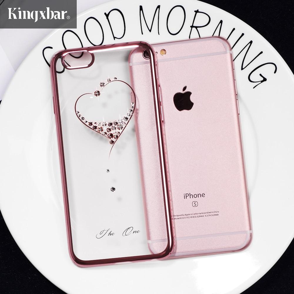 KINGXBAR for iPhone X 7 8 Plus Case Swarovski Element Crystals Diamond Luxury Case for iPhone 8 Plus 7 Plus Cover Phone Coque