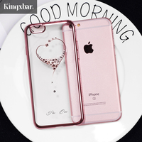 KINGXBAR Cover For IPhone 6 S Cover Shell Diamond Plated Plastic Case For IPhone 6 6s