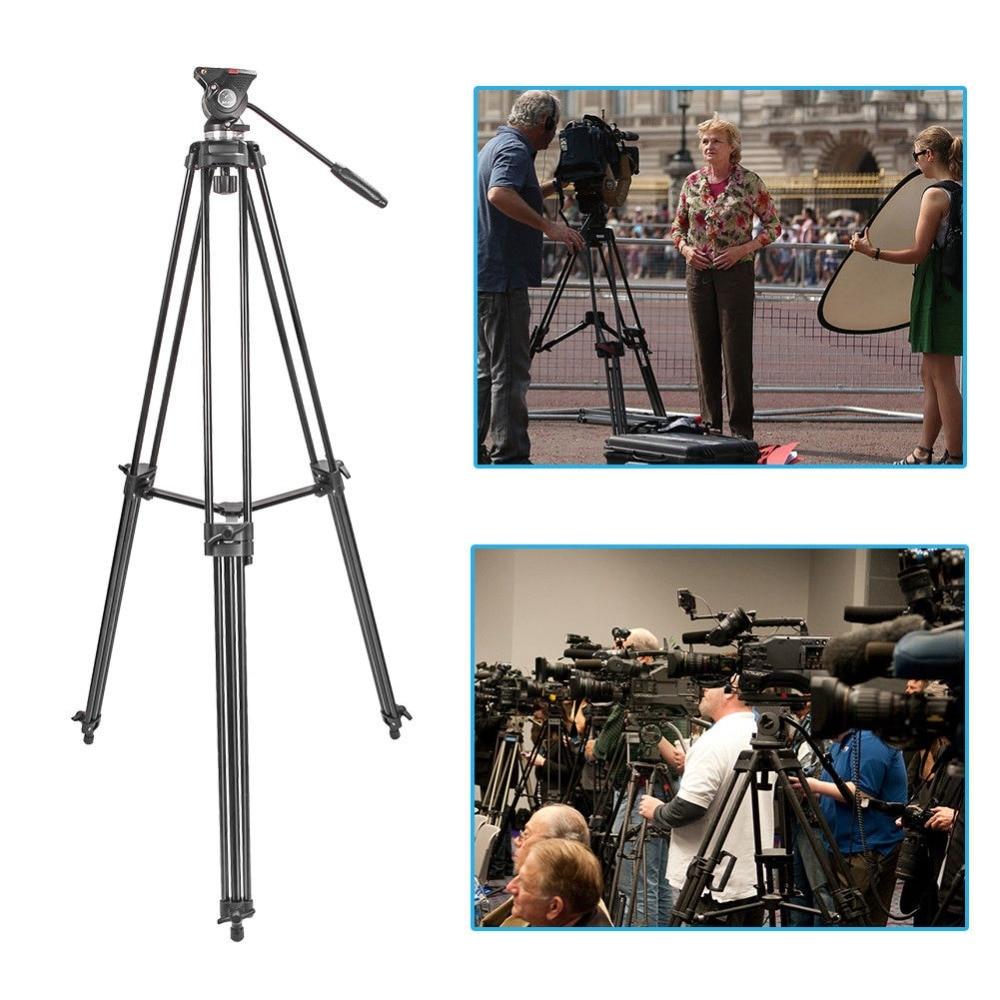 ZOMEI Professional Camera Tripod Heavy Duty Video Aluminum Alloy Tripod Fluid Pan Head Damping for Dslr