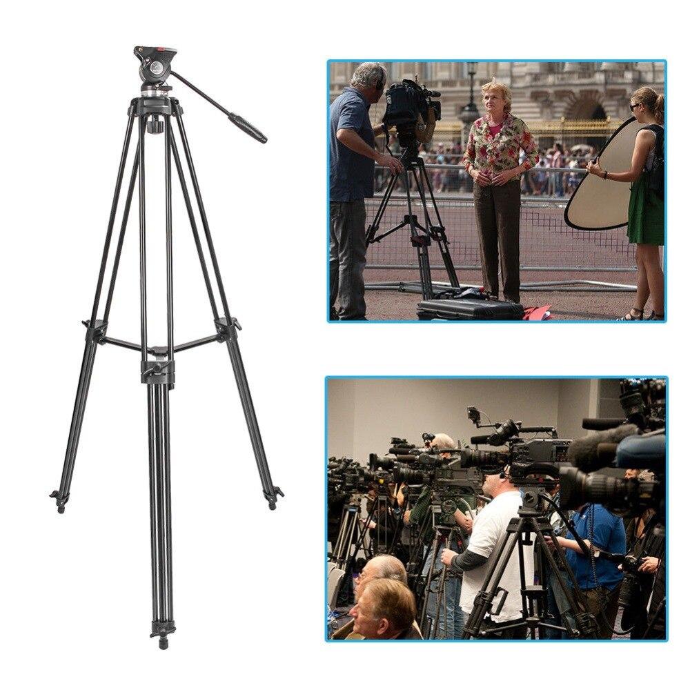 TRASPORTO LIBERO ZOMEI Treppiedi di Macchina Fotografica Professionale Heavy Duty Video In Lega di Alluminio Treppiedi Fluid Pan Testa di Smorzamento per Dslr DV Video