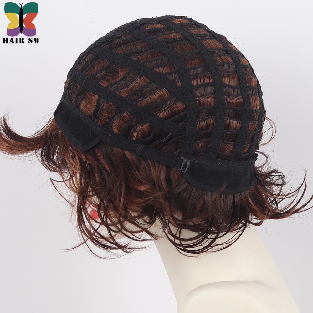 Aliexpress Buy Hair Sw Short Bob Fluffy Curly Synthetic Wig