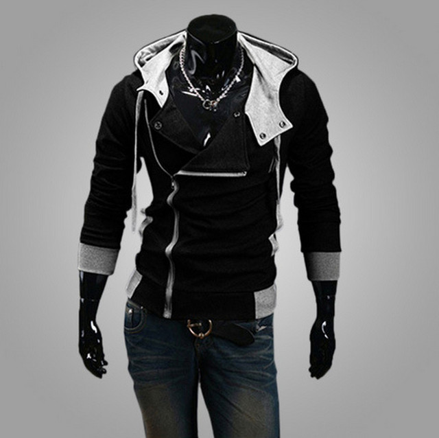 Stylish Assassins Creed Hoodie Men's Cosplay Assassin's Creed Hoodies Cool Slim Jacket Costume Coat Big Size 3