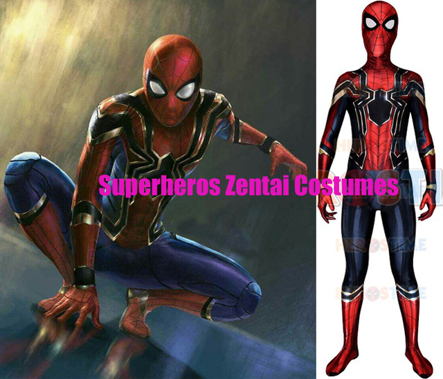 Fer-Araignée Homecoming Spiderman Cosplay Costume 3D Imprimer Zentai Fer  Spider-man Films Costumes ccacc8eba30