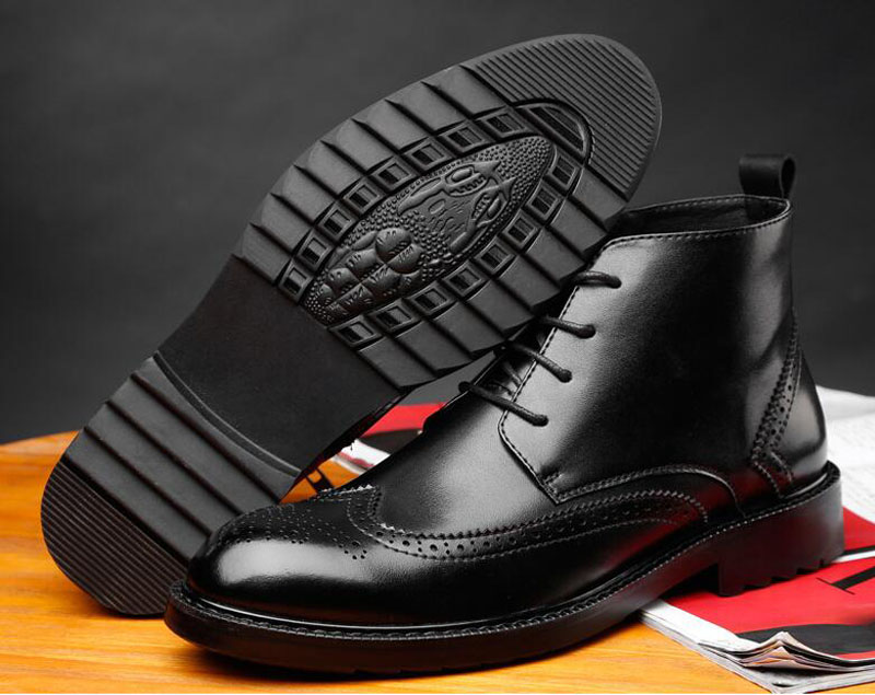 YIGER Genuine Leather Boots for Men 22