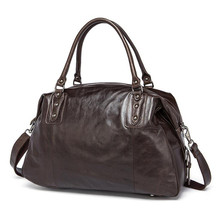 Genuine Leather Women Travel Bags Travel Luggage Men Fashion Totes Luggage Big Bag Male Crossbody Business Shoulder Handbag недорого