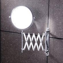 8 inch Bathroom makeup mirror brass bathroom double faced makeup mirror magnifier X3 beauty mirror retractable wall mirror
