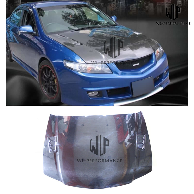 CL7 Front Engine Hood Cover Body Kit Carbon Fiber Fit For Honda Accord CL7 RR Style 2013-2018