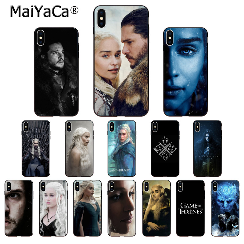 MaiYaCa Game of Thrones Jon Snow Daenerys High Quality Phone Case for Apple iPhone 8 7 6 6S Plus X XS MAX 5 5S SE XR Cover(China)