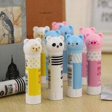 Вязкости клей-карандаш стик симпатичный принадлежностей канцелярских высокой твердые клей пластиковые мультфильм