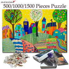 MOMEMO City Home Wooden Jigsaw Puzzle 1000 Pieces Hand-painted 500 1500 Adults Toys Games for Children