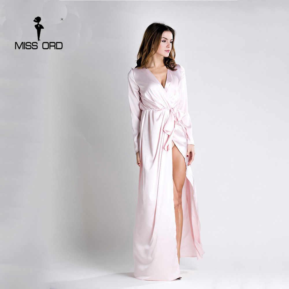b6baf7d748e ... Missord 2019 сексуальное с длинными рукавами v-образным вырезом  сексуальное платье с разрезом FT5152 ...