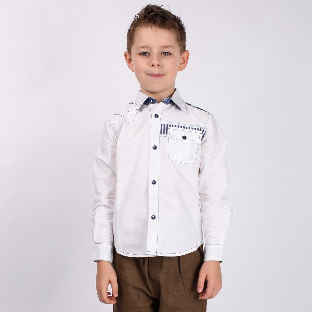 Рубашки для мальчиков Однотонная рубашка с длинными рукавами хлопковые рубашки для больших мальчиков, детская одежда Вечерние рубашки с от...