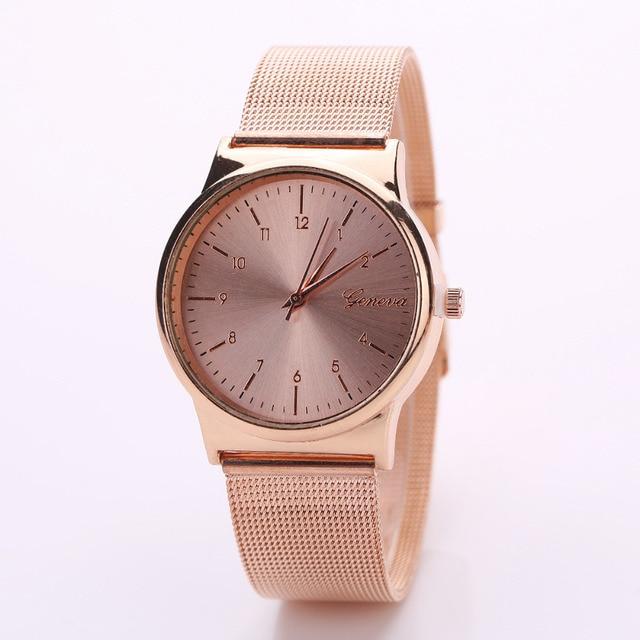 Femmes de montre De Luxe Or Rose Femmes En Acier Inoxydable Maille Bracelet À Quartz montre femme dames poignet montres montre femme 2018