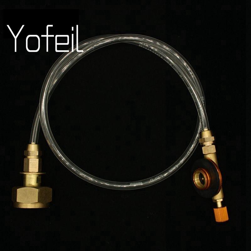 Yofeil al aire libre Camping Gas estufa propano recarga adaptador Gas cilindro plano tanque acoplador adaptador gas estufa Accesorios
