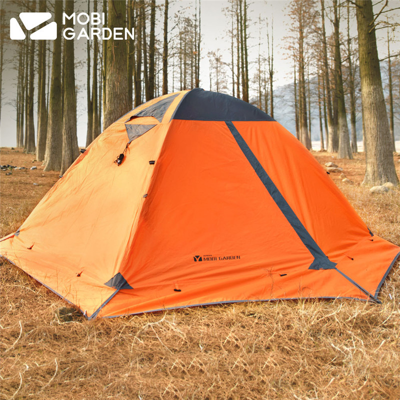 High Quality 2 Person Double Layer Aluminum Poles 4 Season Camping Tent Barraca Beach Tent With Snow Skirt outdoor camping hiking automatic camping tent 4person double layer family tent sun shelter gazebo beach tent awning tourist tent