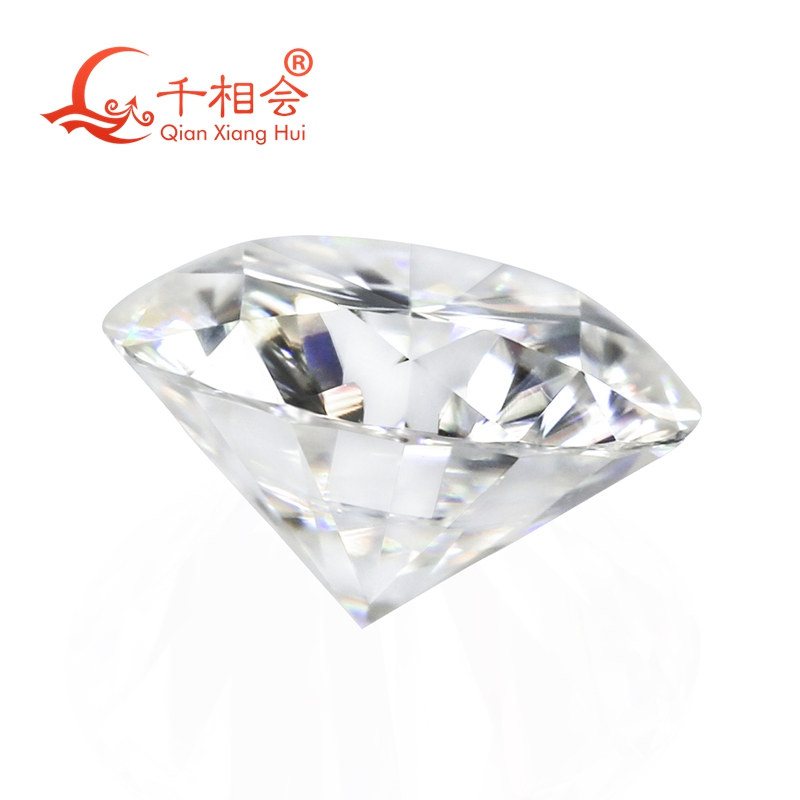 Image 3 - 6.5mm DF צבע לבן עגול מבריק moissanites loose אבן עם תעודה-ביהלומים ואבני חן מתוך תכשיטים ואביזרים באתר