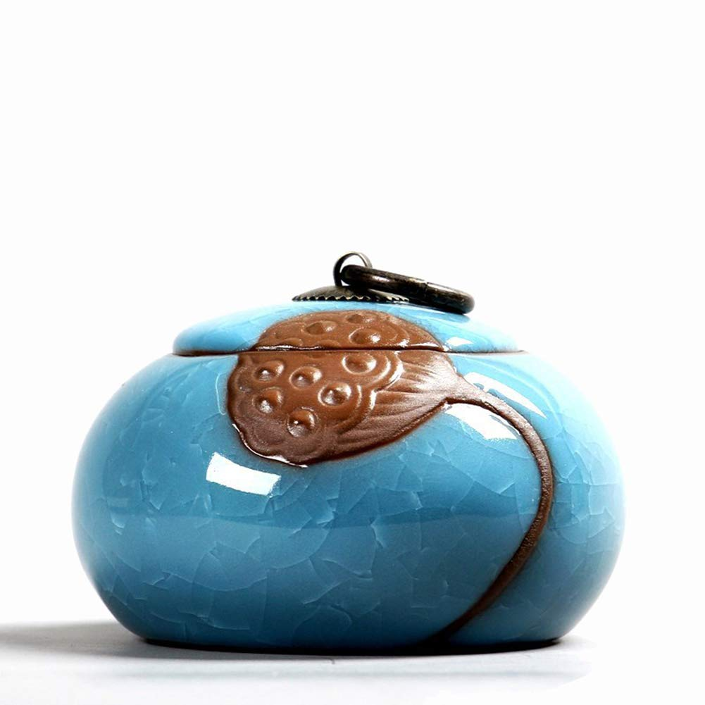 Градиентная глазурь керамическая похорон урна для праха домашнего животного для памятников-Мини-вмещает до 15 кубических дюймов пепла-питомцы; урна для кремации для пепла