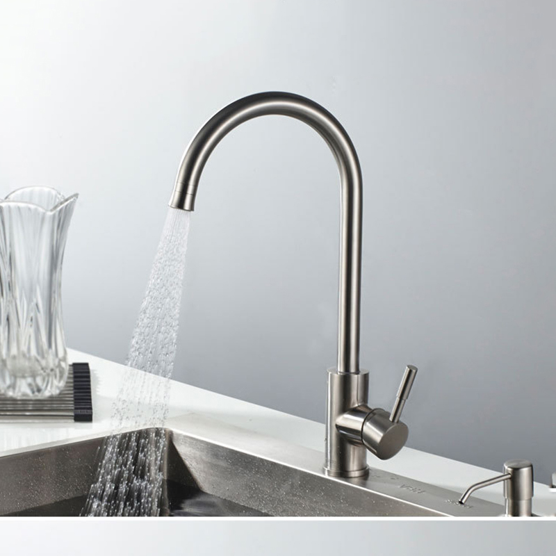 Double Water Outlet Modes Kitchen Faucet Stainless Steel Brushed Rotatable  Easy Switch Kitchen Sink Mixer Water Tap New Design In Kitchen Faucets From  Home ...