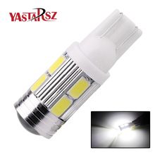 1PCS T10 194 192 921 Super Bright 10 SMD 5630 5730 LED Auto Parking Light W5W WY5W Car Reading Lamp Wedge Tail Side Bulb DC 12V