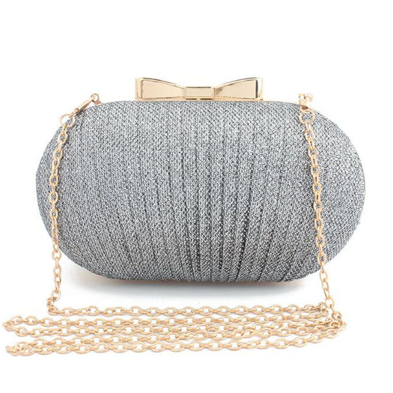 Bride Wallet Makeup-Bags Clutch Crossbody-Bag Evening-Bag Ruched Wedding Party Bling