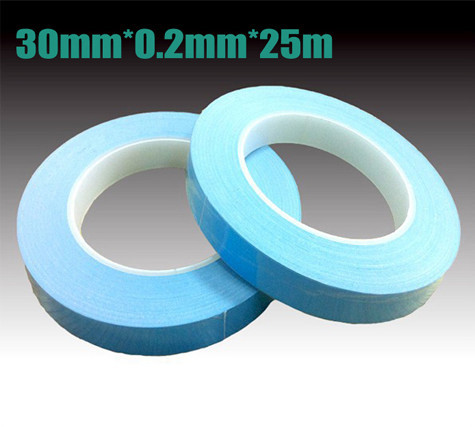 30mm width 25M length Chip PCB Heatsink thermal tape Double Sided Thermal Conductive Adhesive tape Transfer Tape 20pcs lot aluminum heatsink 14 14 6mm electronic chip radiator cooler w thermal double sided adhesive tape for ic 3d printer