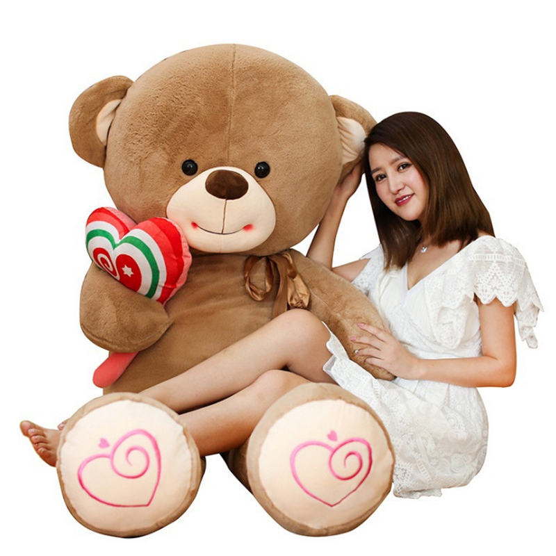 Fancytrader Jumbo Teddy Bear with Lolly Plush Doll Big Stuffed Bears Toys 180cm 71inch Nice Gifts 1 piece light brown high quality low price stuffed plush toys large size100cm teddy bear 1m big bear doll lovers birthday gift