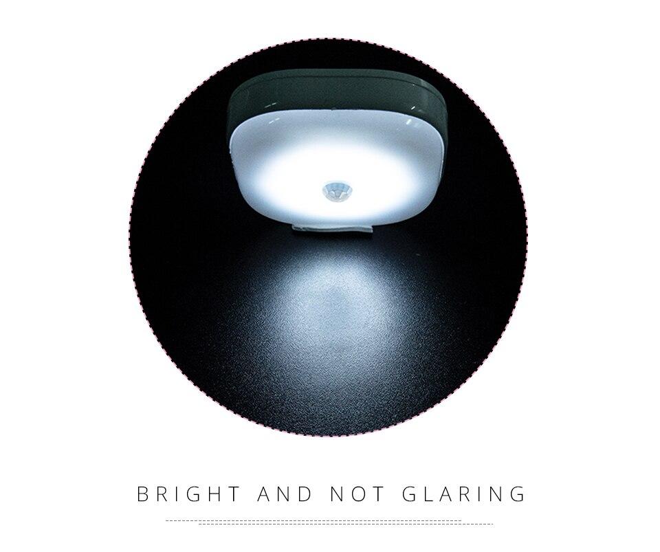 Under Cabinet Light PIR Motion Sensor Wireless Wall Lamp Smart LED Light Warbrobe Ceiling Closet Emergency Bedroom Kitchen Light (8)