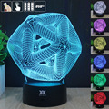 Abstraction 3D Night Light RGB Changeable Mood Lamp LED Light DC 5V USB Decorative Table Lamp Get a free remote control HUI YUAN