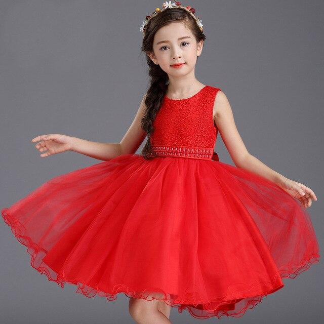 d4e51d55f 3-13 Edad Adolescente Traje de Niña de La Princesa Muchachas Del Vestido de  Perlas