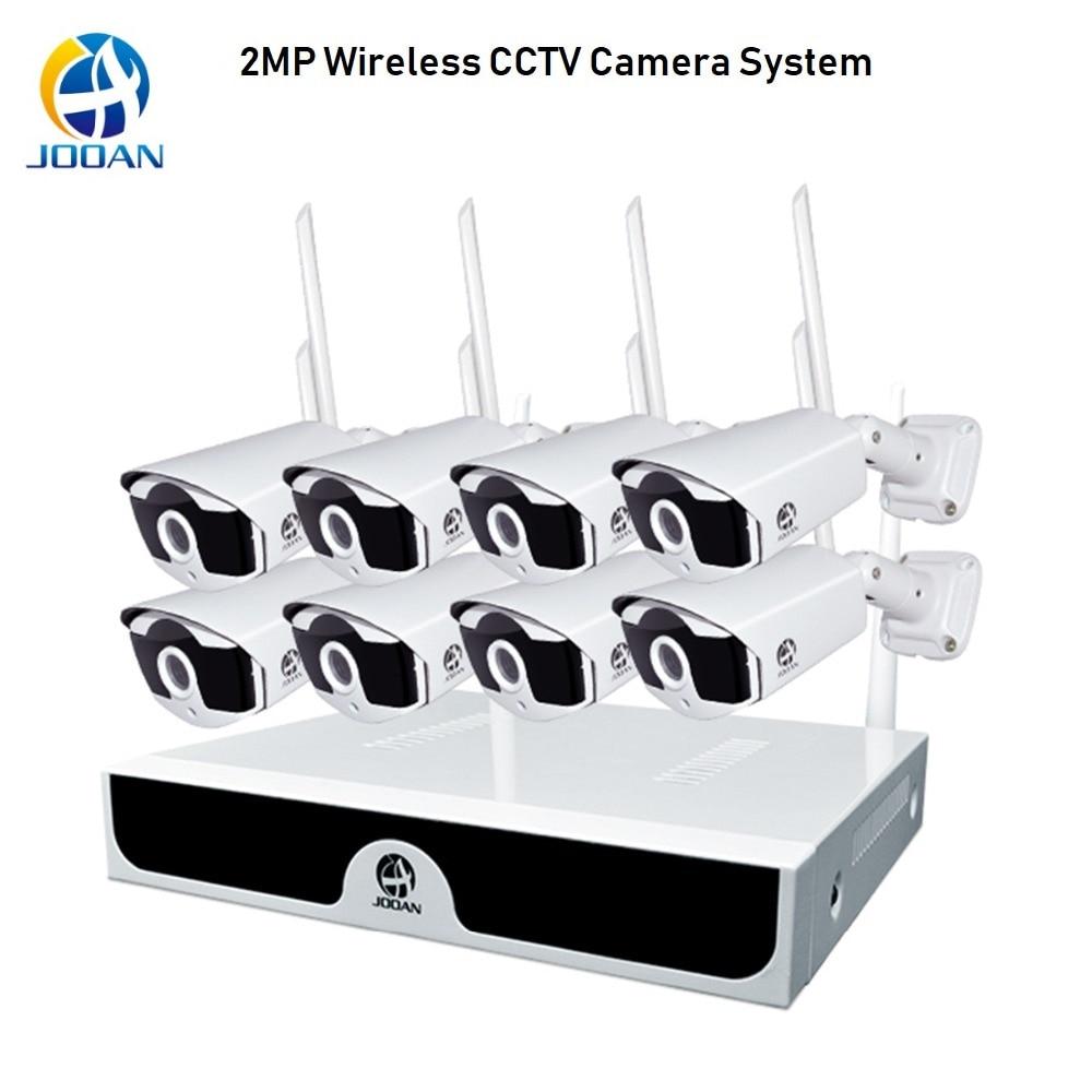 Système de caméra de sécurité 8CH 1080P système de vidéosurveillance sans fil 2MP caméra NVR WiFi IR-CUT H.265 Kit de système de sécurité sans fil caméra de vidéosurveillance