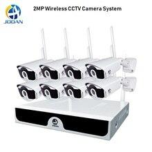 8 канальная беспроводная камера видеонаблюдения, 1080P, 2 Мп, NVR, Wi Fi IR CUT, H.265