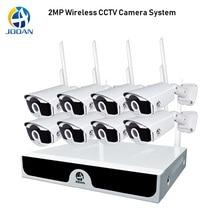 8CH الأمن نظام الكاميرا 1080P اللاسلكية نظام الدائرة التلفزيونية المغلقة 2MP كاميرا NVR واي فاي IR CUT H.265 كاميرا تلفزيونات الدوائر المغلقة نظام الأمن اللاسلكي