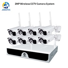 8CH Security Camera System 1080P Wireless CCTV 2MP NVR WiFi IR-CUT H.265 Kit