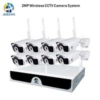 8ch sistema de câmera de segurança 1080 p sistema de cctv sem fio 2mp câmera nvr wifi IR CUT h.265 cctv câmera sistema de segurança sem fio kit|Sistema de vigilância| |  -