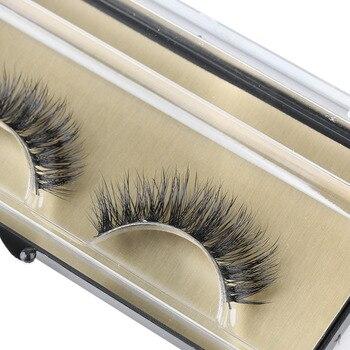 1 Pair New Fashion Women Beauty Makeup 100% Handmade Real Mink Hair Natural Soft False Eyelashes Cross Lashes Fake Eyelashes