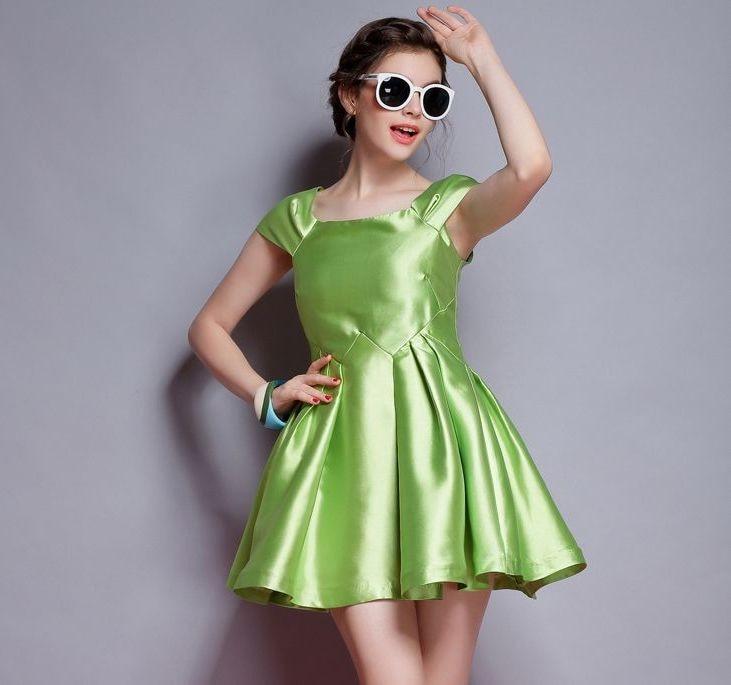 US $33.99 15% OFF|Customize Girls Womens Summer Plus Size 3XS 10XL Satin  Party Dress Ladies high waist slim sweet princess Tutu dresses Vestido-in  ...